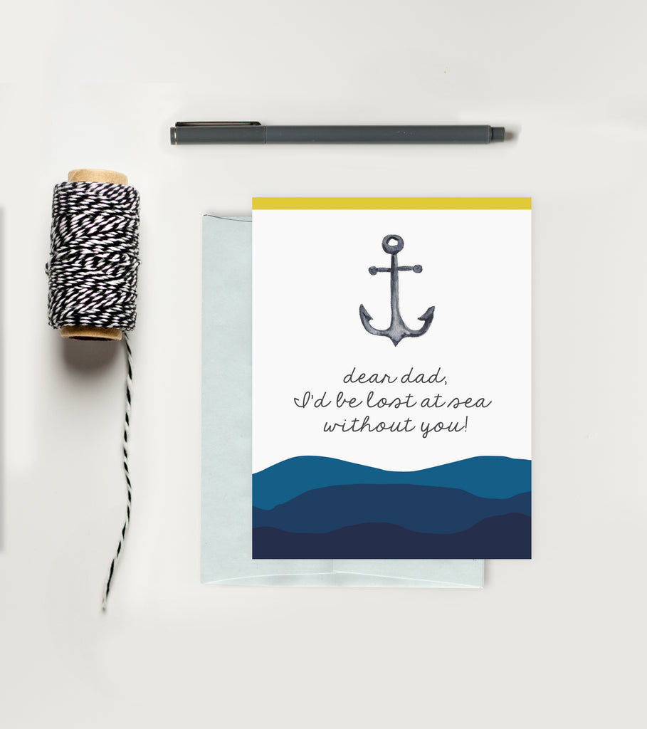 Holiday Greeting Card - Father's Day - Anchor Card