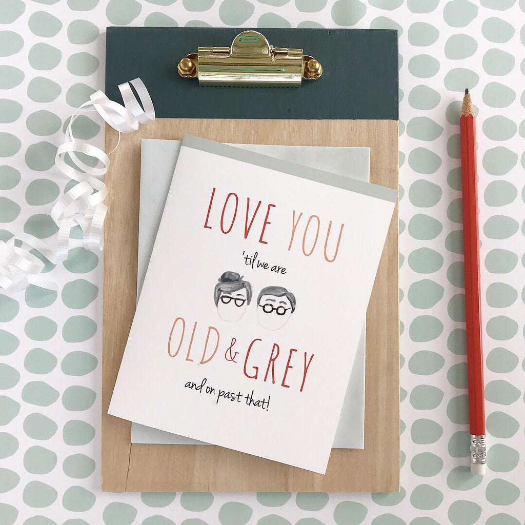 Greeting Card - Anniversary - Old & Grey
