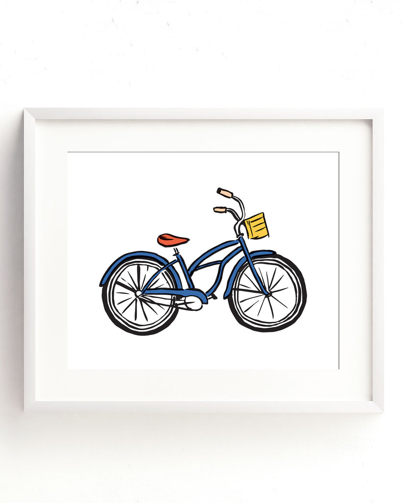 Coastal Breeze - Cheery Bike Print