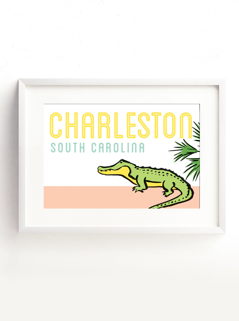 Postcard - Charleston - Alligator Sightseeing