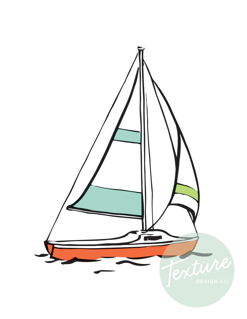 Coastal Breeze - Notecard Set - Sailboats