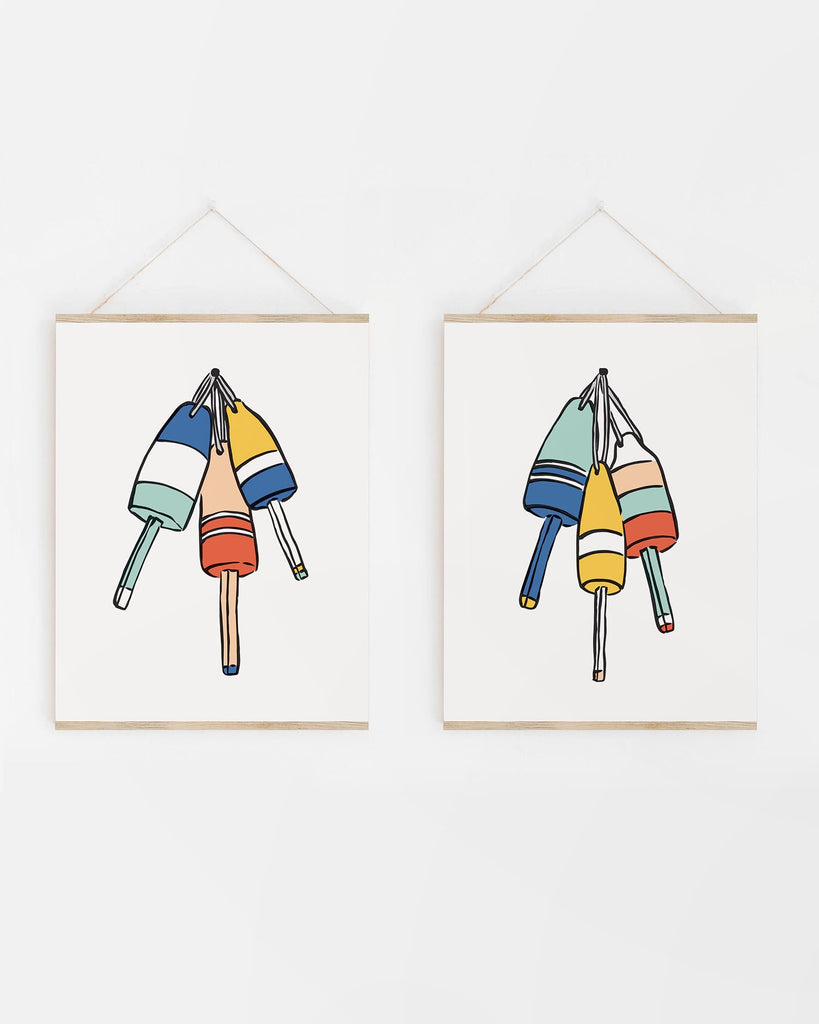 Bold and Colorful Nautical Buoy Artwork