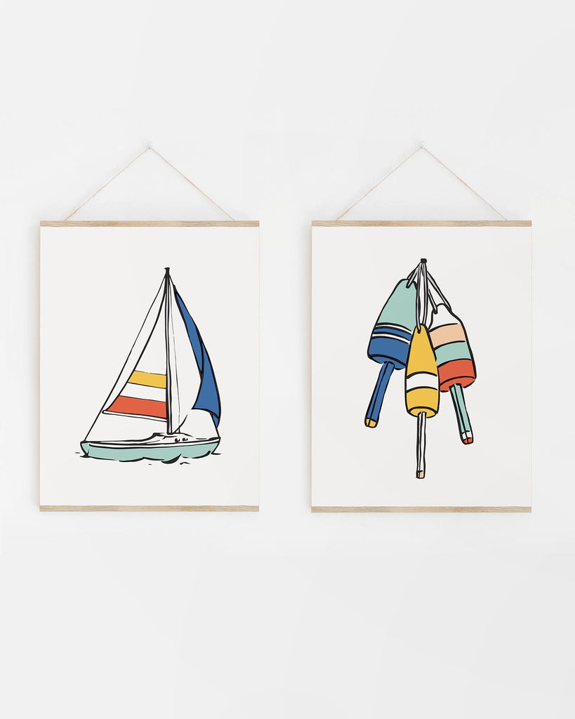 Bold and Colorful Nautical Artwork