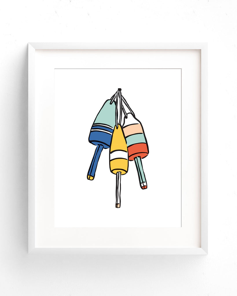 New England Nautical Buoy art print