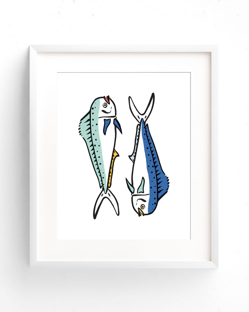 Coastal Breeze - Pair of Fish Print
