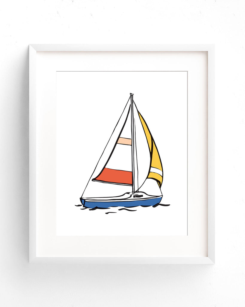 Sailboat Graphic Print