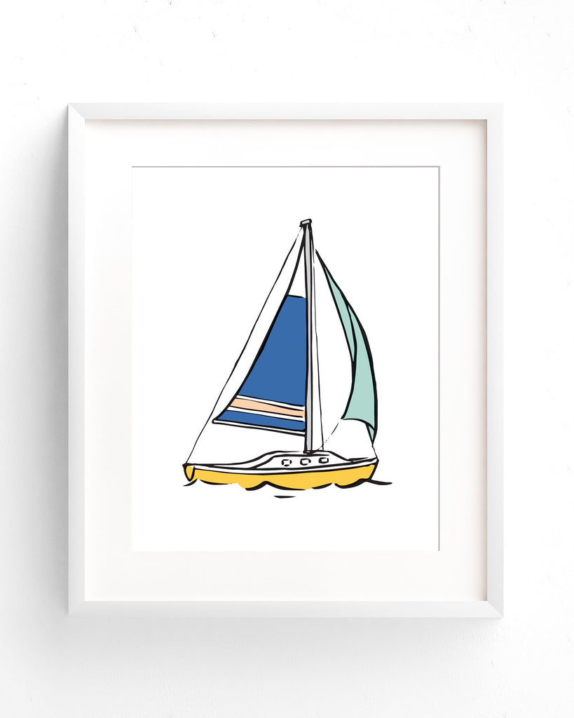Kids Sailboat Artwork