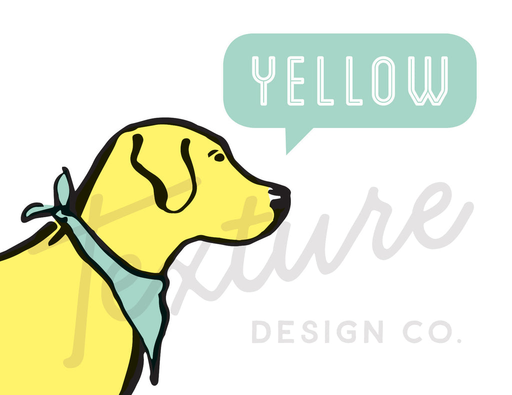 Coastal Breeze - Greeting Card - Yellow Lab