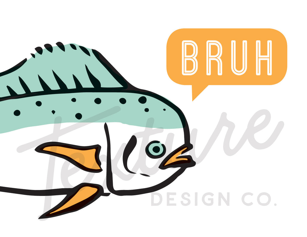 Coastal Breeze - Greeting Card - Bruh Fish
