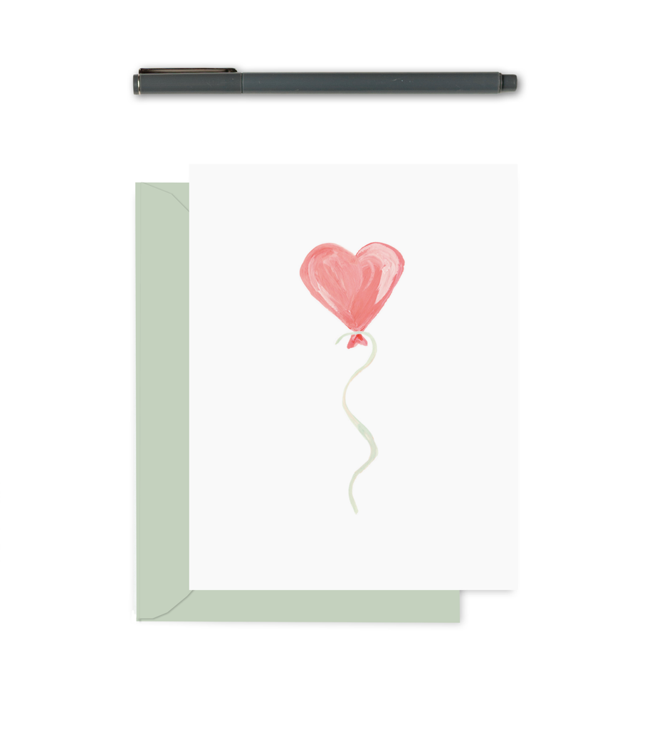 Greeting Card - Heart Balloon