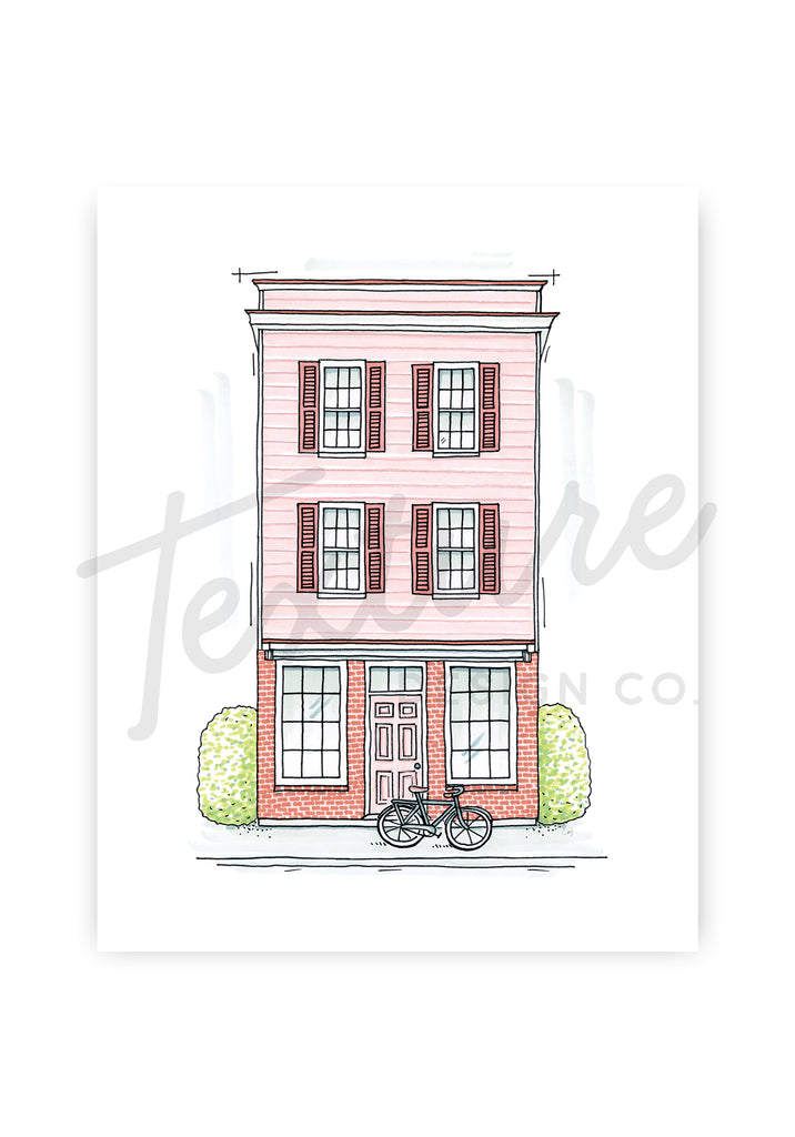 Blush Pink Storefront Art Print [LIMITED EDITION]