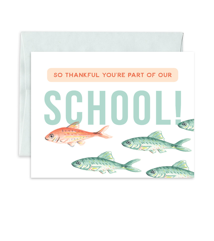 Greeting Card - School of Fish