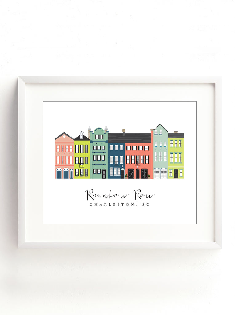 Charleston Rainbow Row Graphic Print