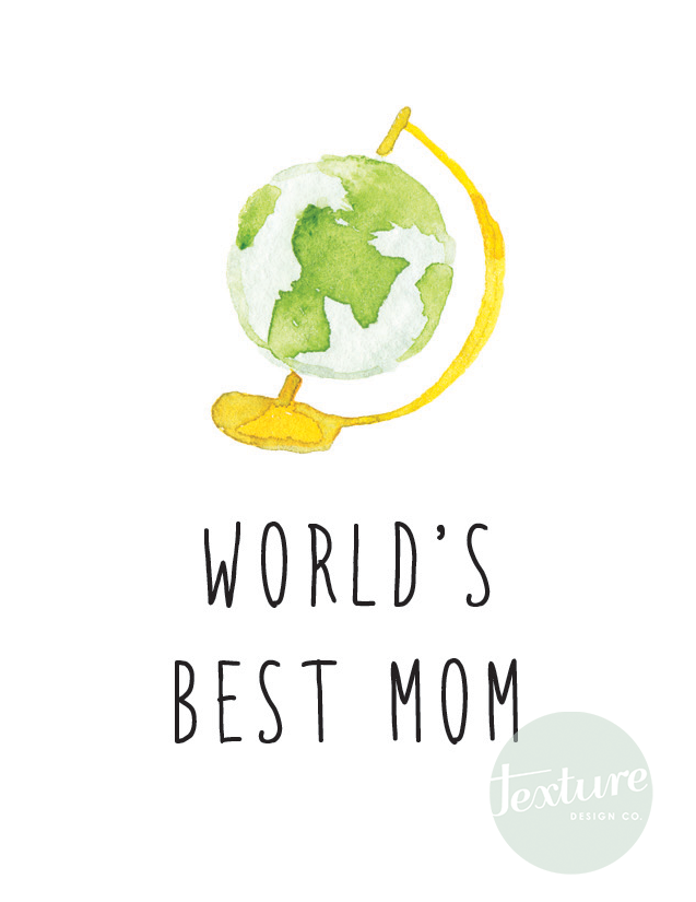 Holiday Greeting Card - Mother's Day - World's Best
