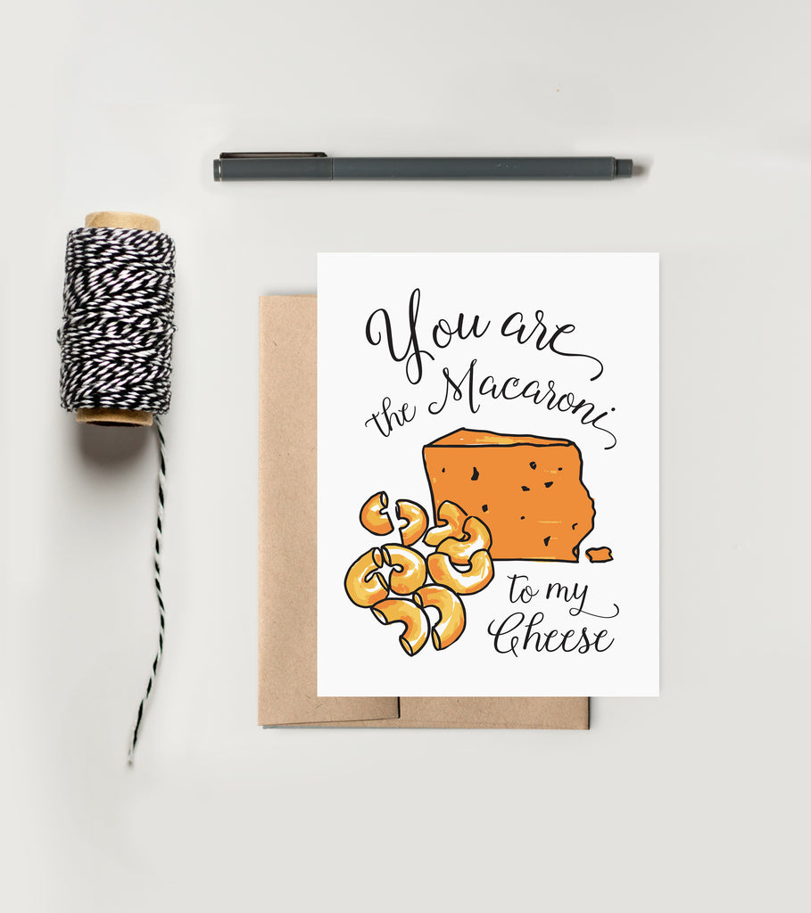 Greeting Card - Perfect Pair - Macaroni & Cheese