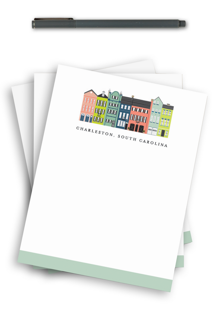 Charleston Notepad - Rainbow Row