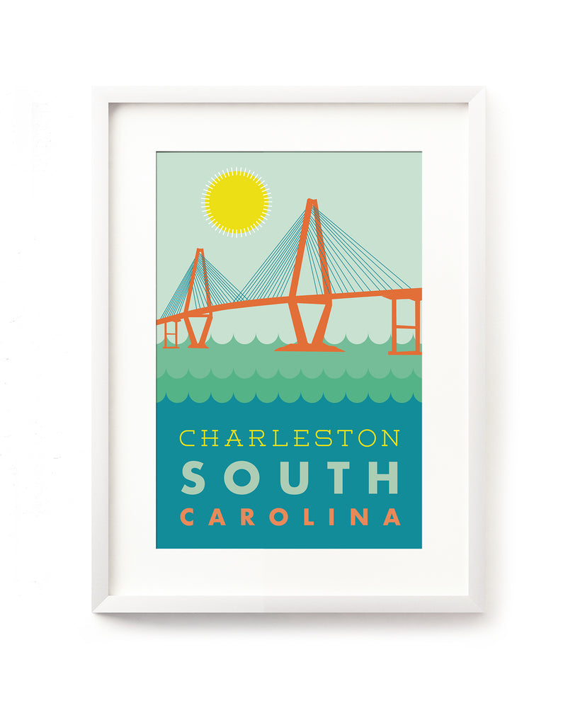 Postcard - Charleston - Bridge