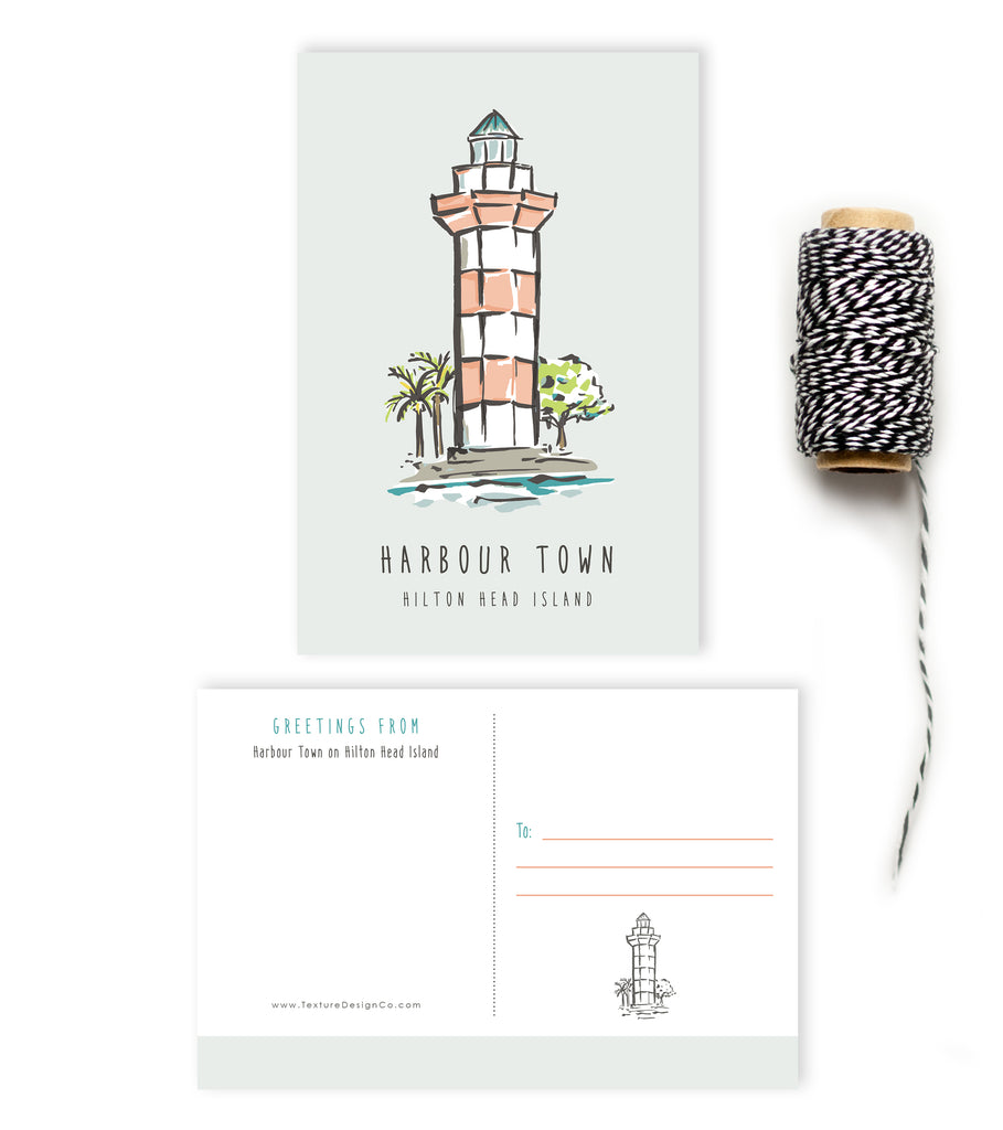 Postcard - Hilton Head - Harbour Town Lighthouse