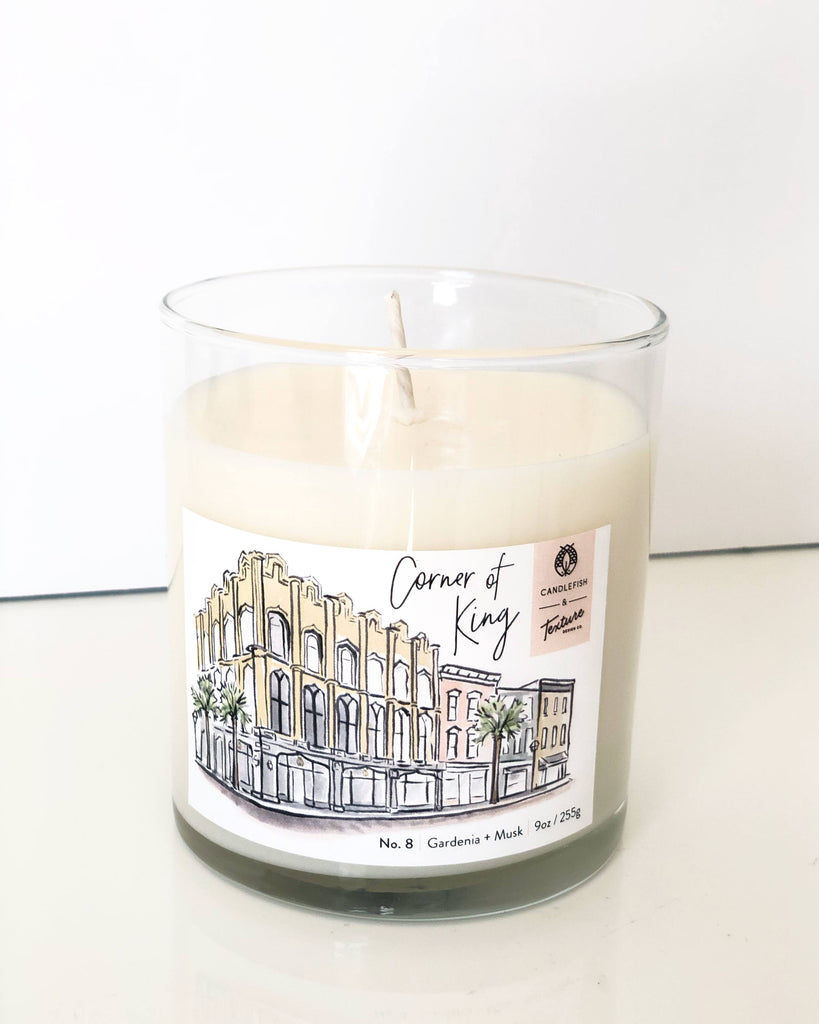 """Corner of King"" Candle by Candlefish + Texture Design Co."