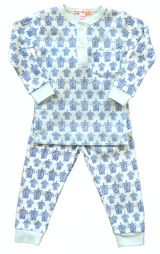 "Blue Sea Turtle Pajama Set - Pineapple Sunshineâ""¢"