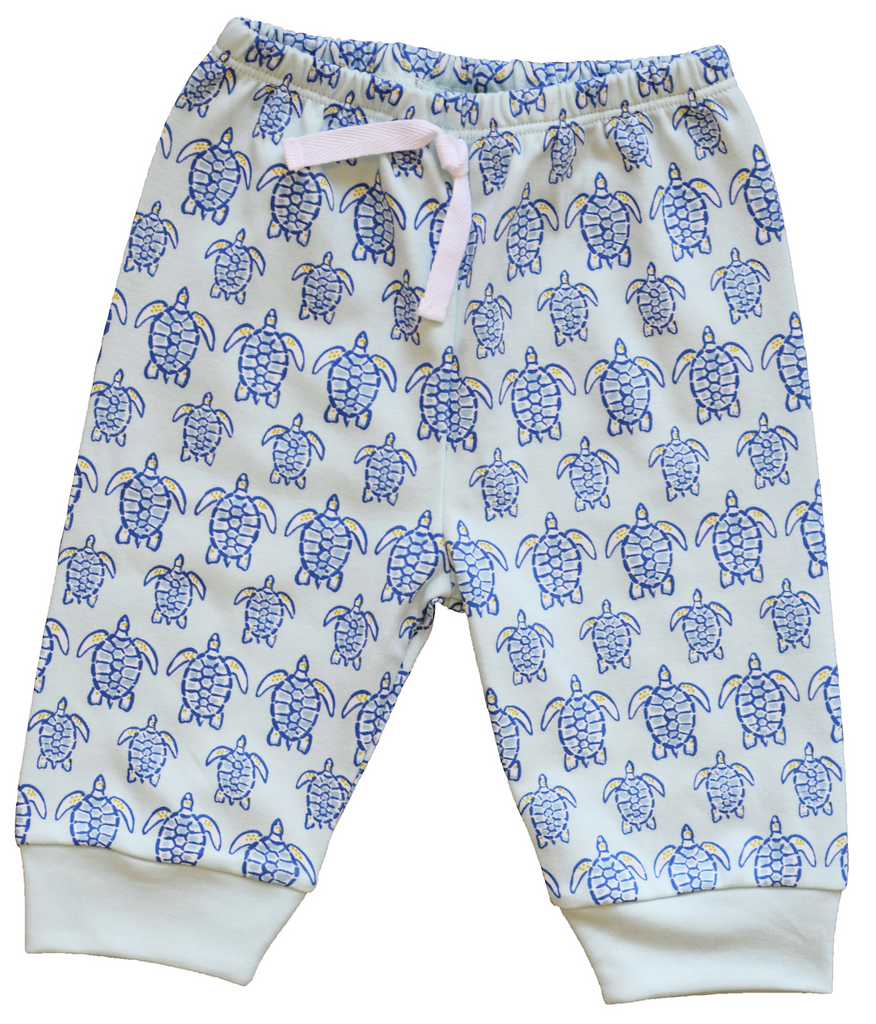 "Blue Sea Turtle Jogger Pant - Pineapple Sunshineâ""¢"