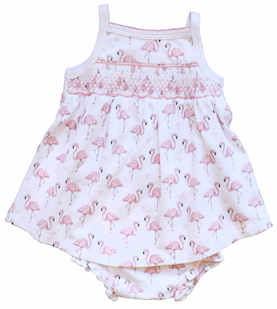 Pink Flamingo Smocked Dress - Pineapple Sunshine™