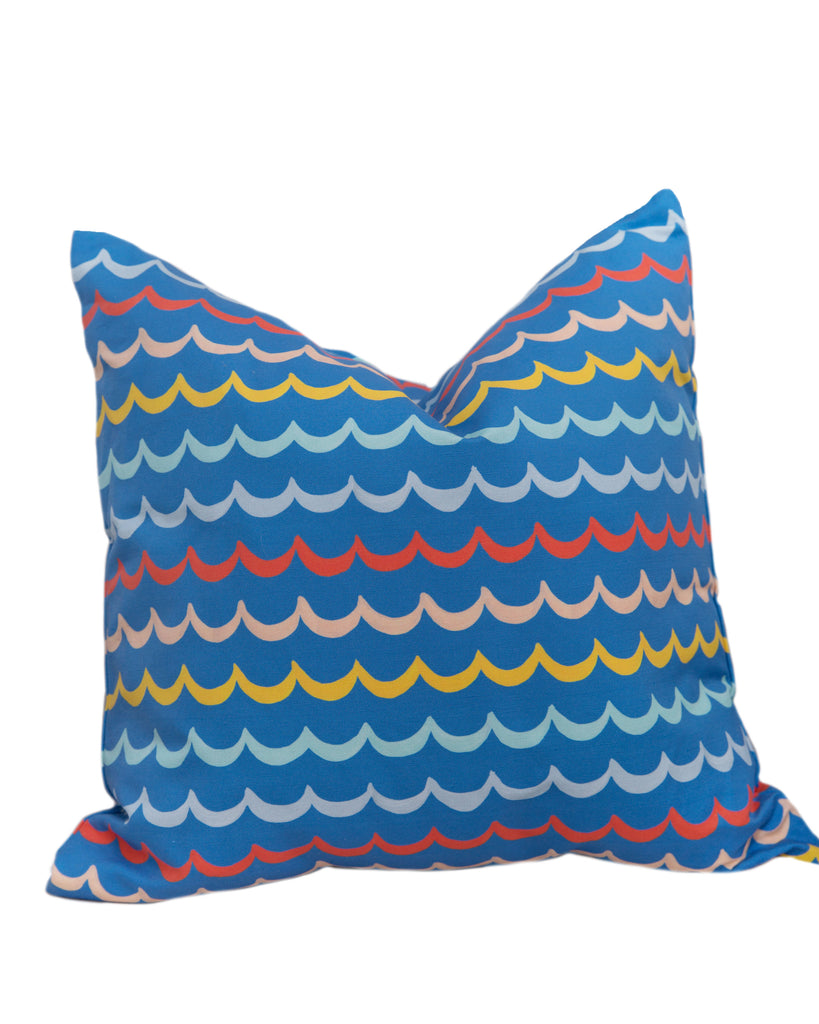 Pillow - Sea Waves on Blue