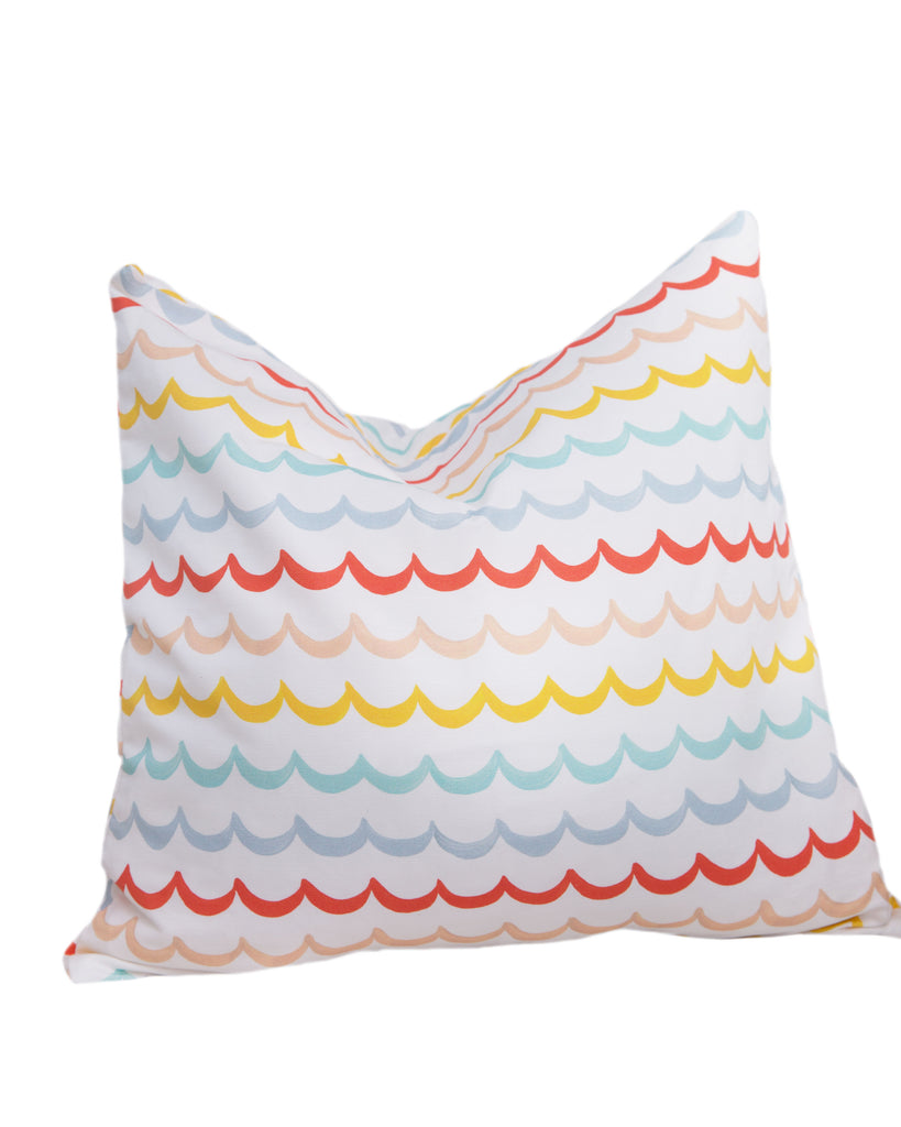 Pillow - Sea Waves on White