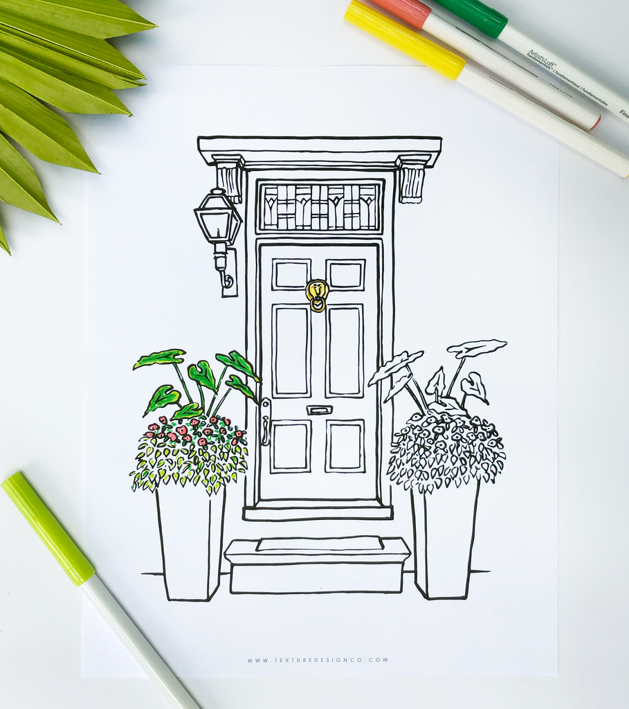 Charleston Coloring Pages