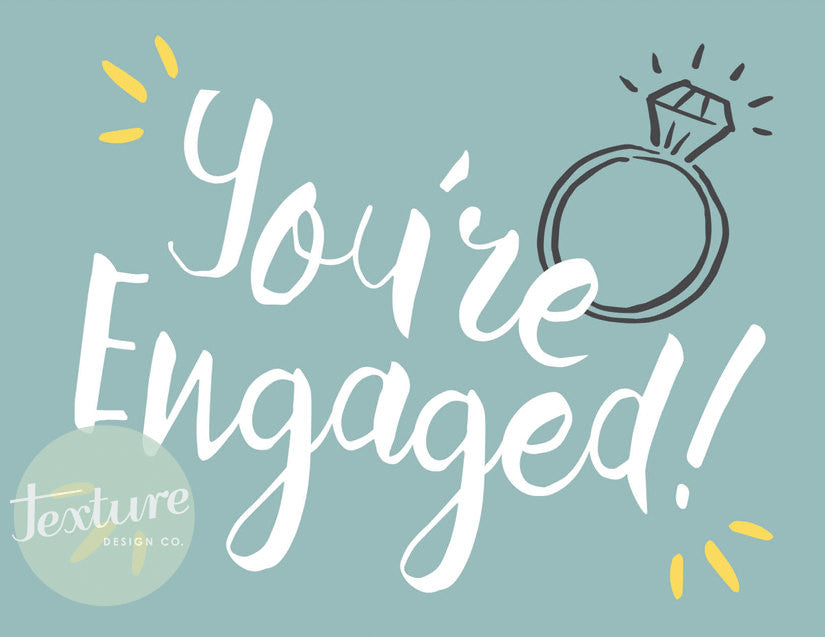 Greeting Card - Marriage - You're Engaged!
