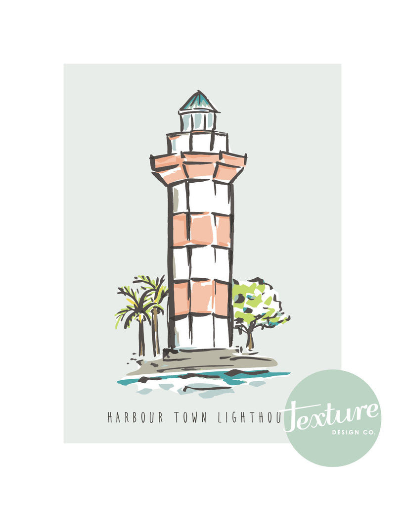 Hilton Head Island Harbour Town Lighthouse Print