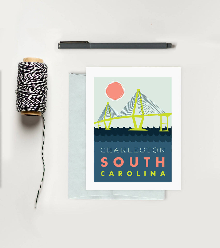 Greeting Card - Charleston Ravenel Bridge
