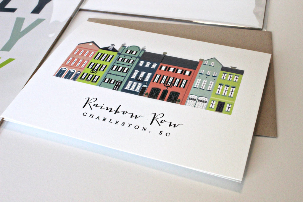 Greeting Card - Charleston Rainbow Row
