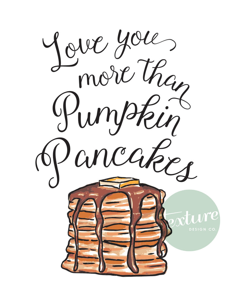 Greeting Card - Perfect Pair - Pumpkin Pancakes