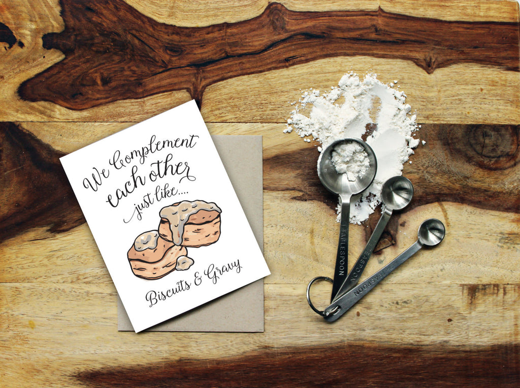 Greeting Card - Perfect Pair - Biscuits & Gravy