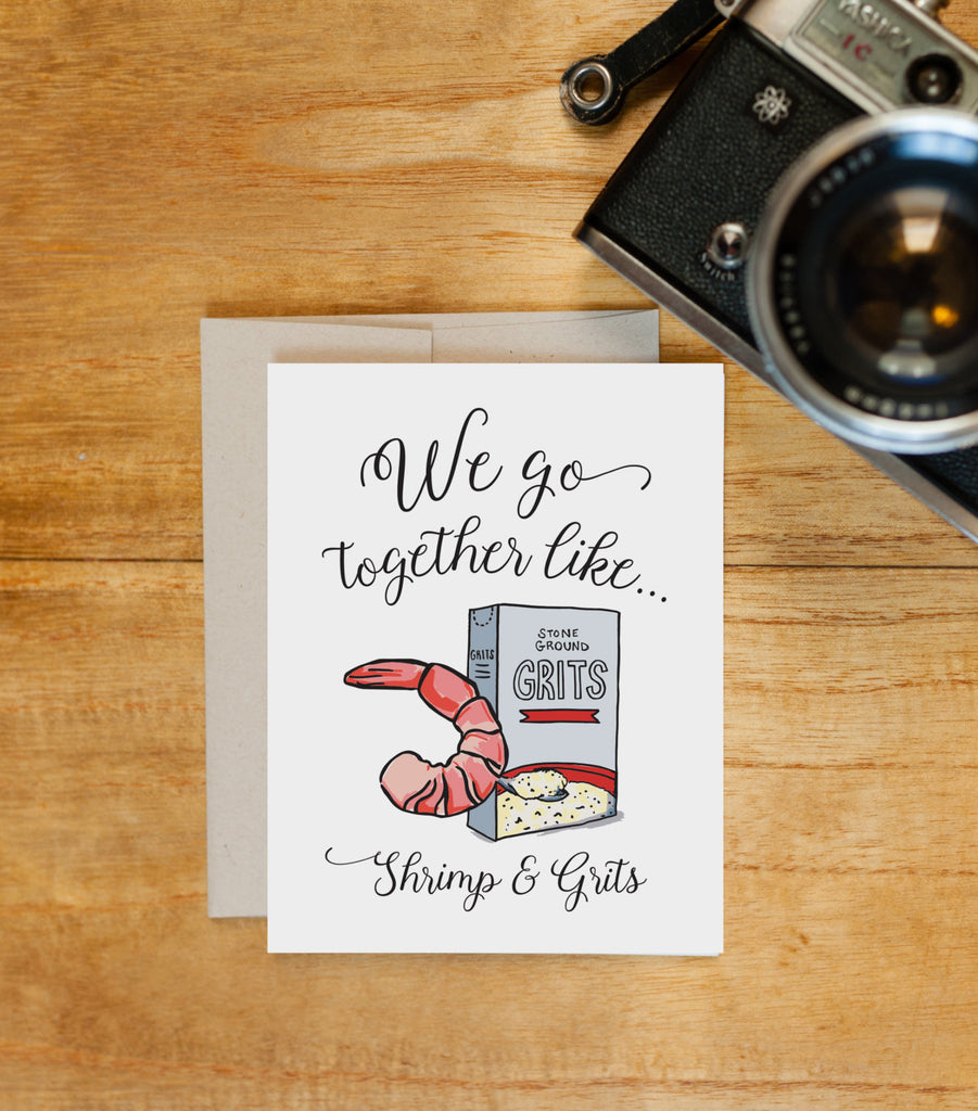 Greeting Card - Perfect Pair - Shrimp & Grits