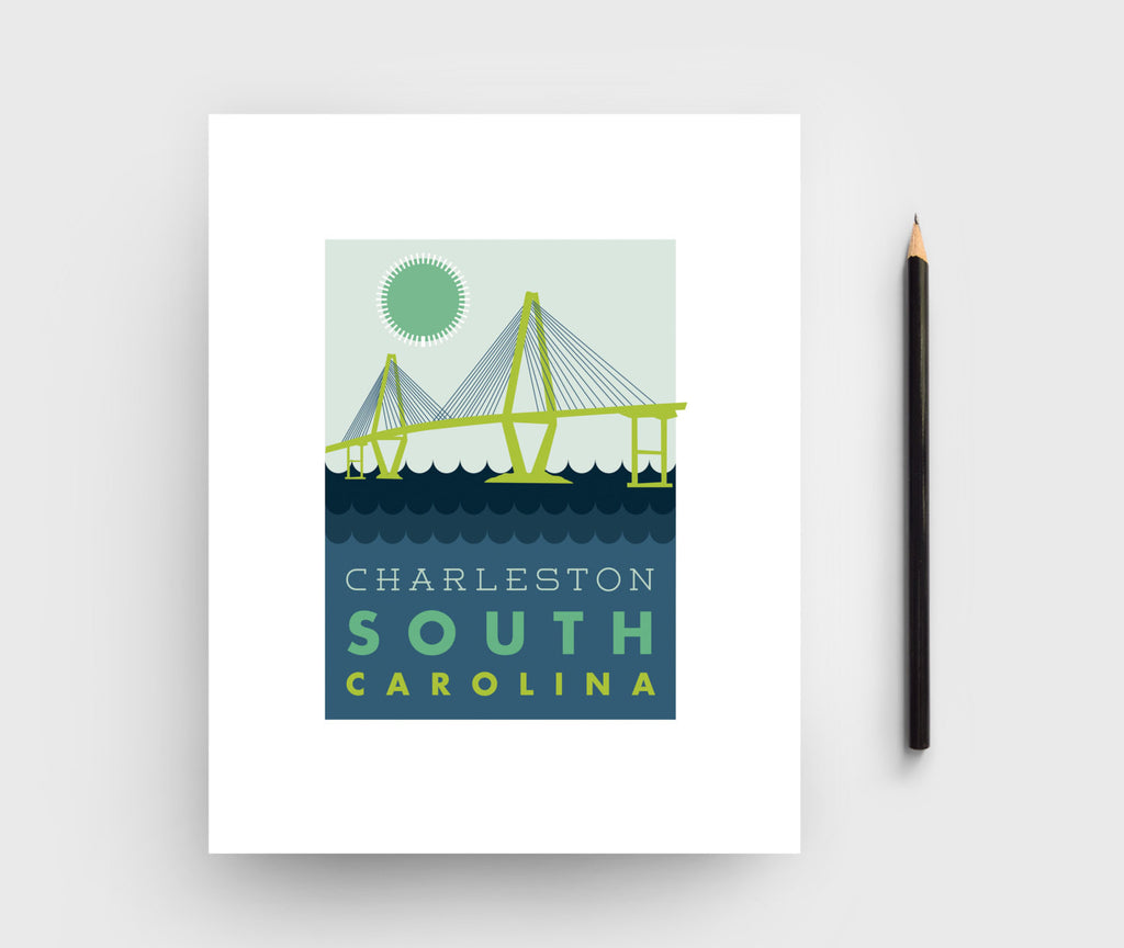 Charleston Ravenel Bridge Graphic Print