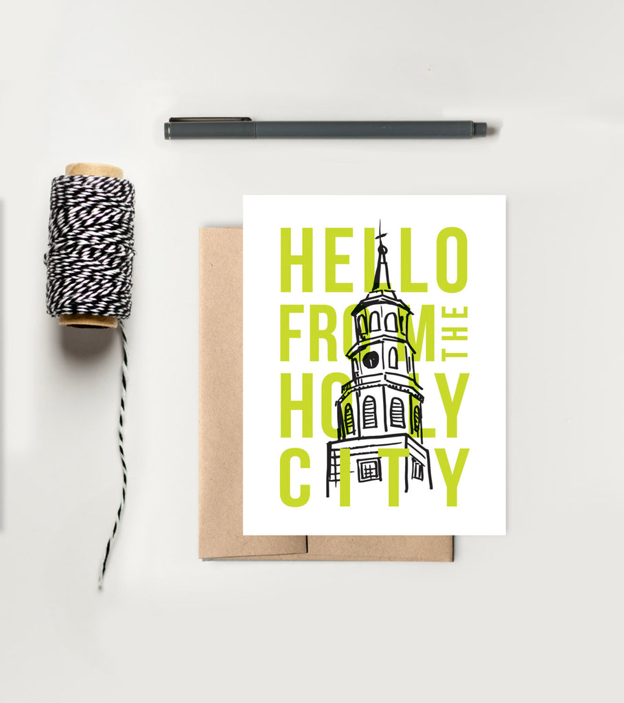 Greeting Card - Charleston Hello From the Holy City