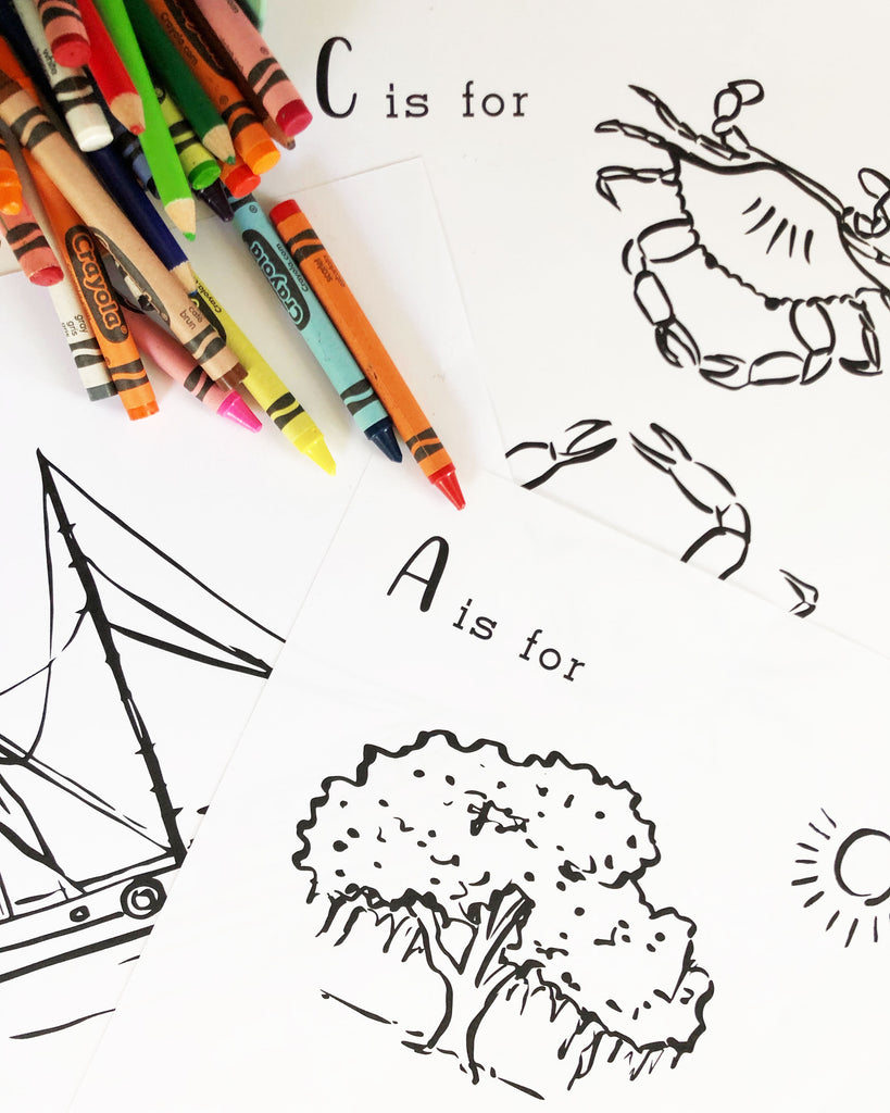 Charleston Activity and Coloring Sheets for Kids