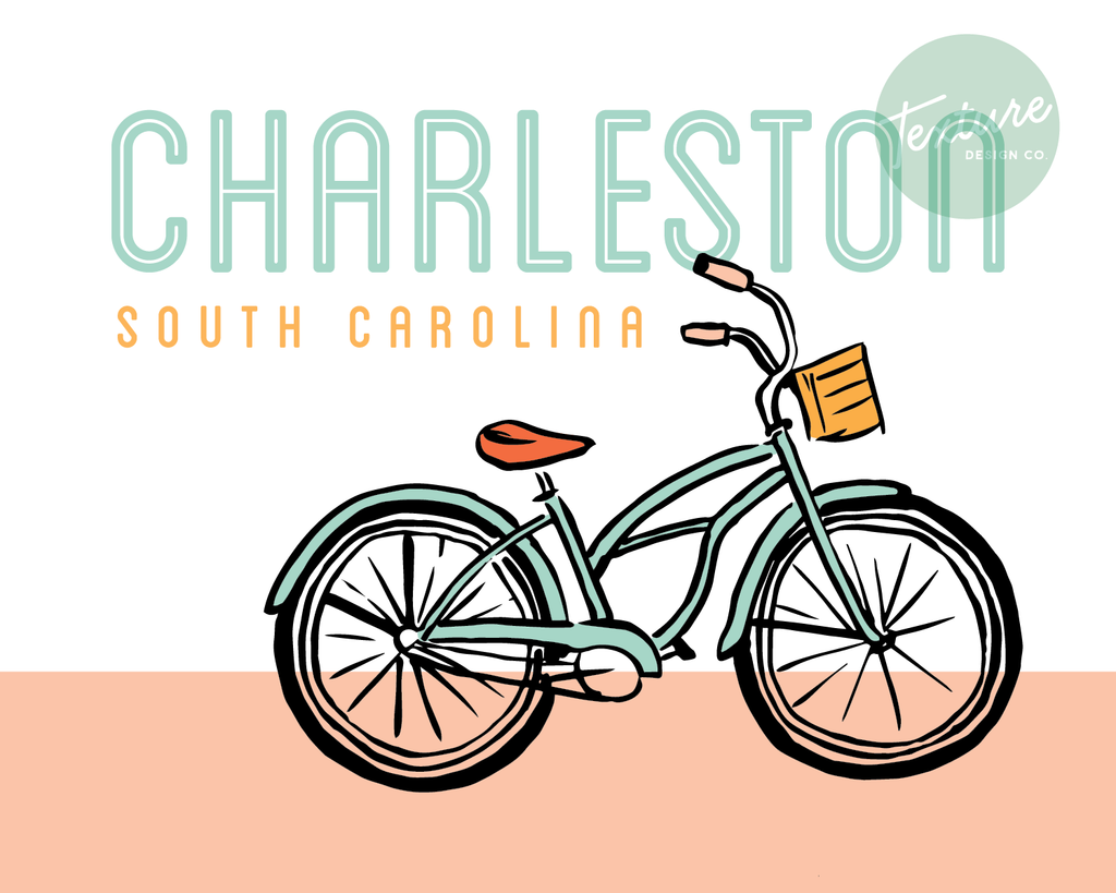Charleston Bike Graphic Print