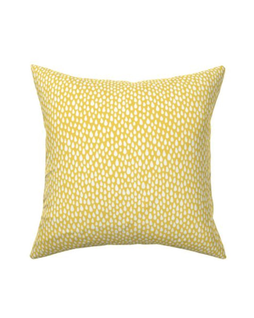 Pillow - Raindrops on Yellow