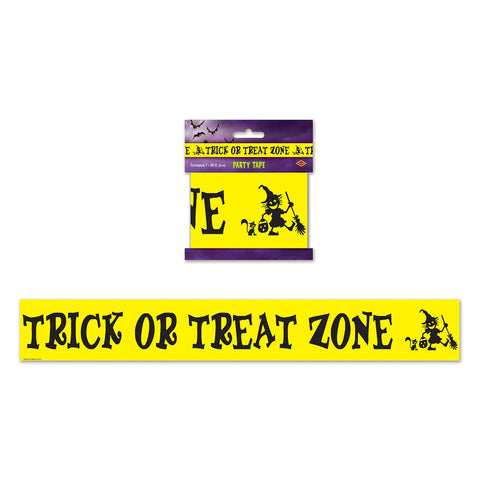 "Trick Or Treat Zone Party Tape, Size 3"" x 20'"