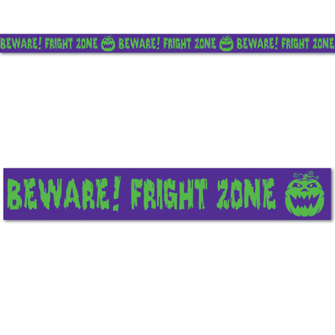 "Beware! Fright Zone Party Tape, Size 3"" x 20'"