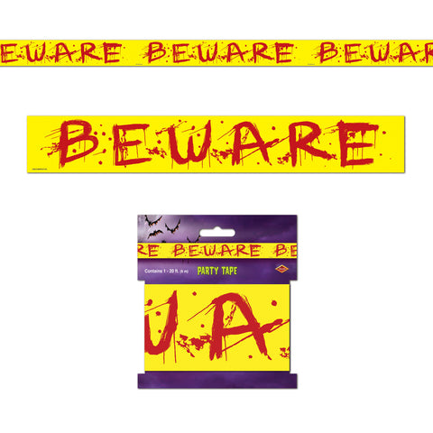 "Beware Party Tape, Size 3"" x 20'"