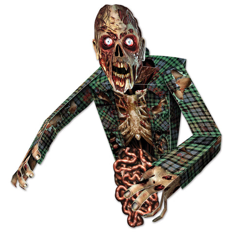 3-D Zombie Wall Decoration, Size 34""