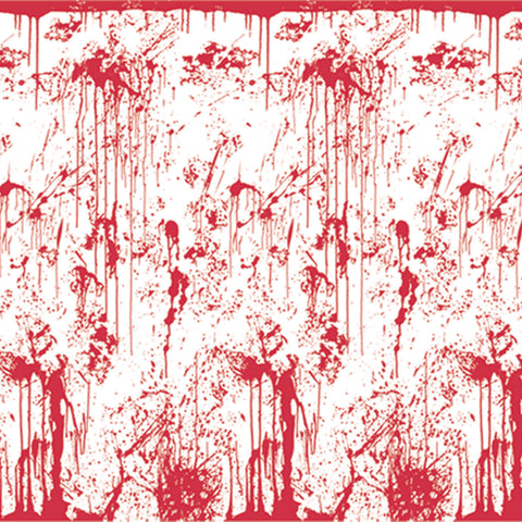 Bloody Wall Backdrop, Size 4' x 30'