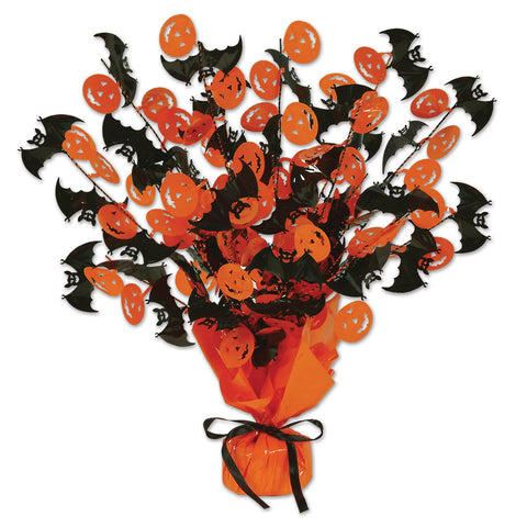 Bat & Pumpkin Gleam 'N Burst Centerpiece, Size 15""