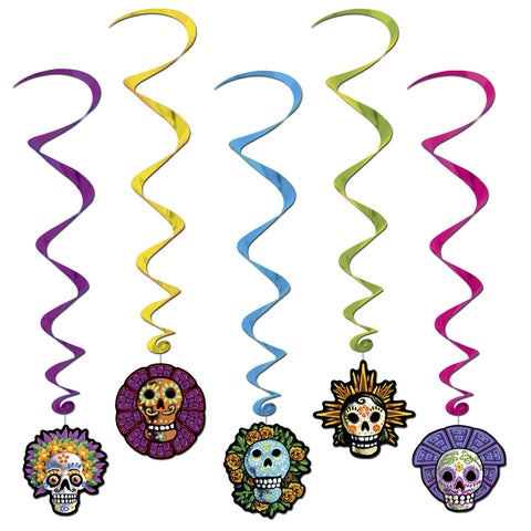 Day Of The Dead Whirls, Size 3' 4""