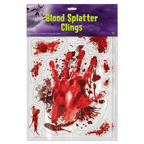 "Blood Splatter Adherivos, Size 12"" x 17"" Sh"