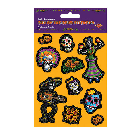 "Day Of The Dead Calcomanias, Size 4¾"" x 7½"""